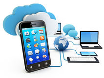 De gegevensverwerkingsconcept van de wolk Royalty-vrije Stock Afbeelding