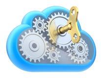 De gegevensverwerkingsconcept van de wolk royalty-vrije illustratie