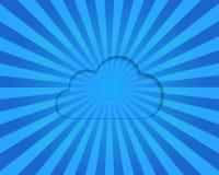 De gegevensverwerkingsconcept van de wolk Stock Foto