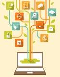De gegevensverwerkingsconcept van het netwerk Royalty-vrije Stock Foto's