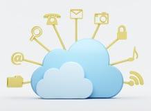 De gegevensverwerkingshulpmiddelen van de wolk Royalty-vrije Stock Afbeelding