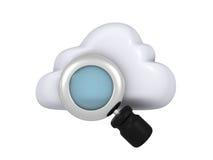 De gegevensverwerkingsonderzoek van de wolk Stock Foto's