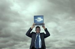 De gegevensverwerkingsoplossing van de wolk Royalty-vrije Stock Afbeeldingen