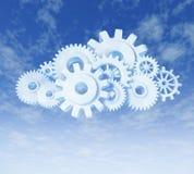 De gegevensverwerkingssymbool van de wolk Stock Afbeelding