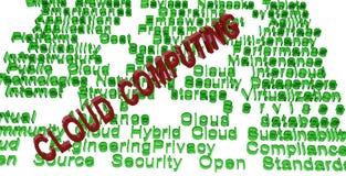 De gegevensverwerkingsterminologieën van de wolk royalty-vrije illustratie