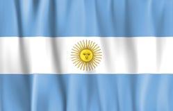 De gegolfte Vlag van Argentinië Stock Fotografie