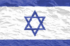 De gegolfte Vlag van Israël Stock Foto's