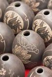 De gegraveerde vazen van het ei vorm, Royalty-vrije Stock Afbeelding