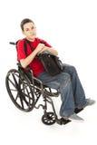 De gehandicapte Ernstige Jongen van de Tiener - Royalty-vrije Stock Foto's