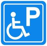 De gehandicapten die Symboolteken, Vectorillustratie parkeren, isoleren op Wit Etiket Als achtergrond EPS10 stock illustratie