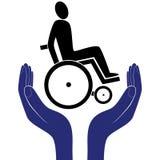 De gehandicapten geven tekenvector Royalty-vrije Stock Fotografie