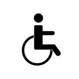 De gehandicapten handicappen pictogram royalty-vrije illustratie