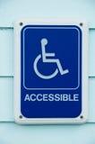 De gehandicapten hebben toegang tot het Teken van het Symbool Stock Fotografie