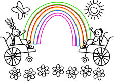 De gehandicapten kleuren me Jonge geitjes stock illustratie