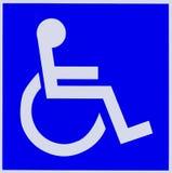 De gehandicapten ondertekenen Royalty-vrije Stock Foto