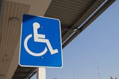De gehandicapten ondertekenen vector illustratie