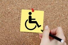 De gehandicapten ondertekenen royalty-vrije stock afbeeldingen