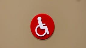 De gehandicapten ondertekenen Royalty-vrije Stock Fotografie