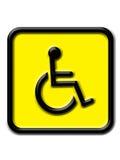 De gehandicapten ondertekenen Royalty-vrije Stock Afbeelding