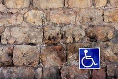 De gehandicapten ondertekenen   stock fotografie