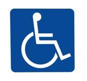 De gehandicapten ondertekenen Stock Foto