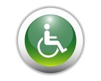 De gehandicapten ondertekenen de Knoop van het Pictogram Stock Foto's