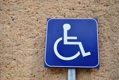 De gehandicapten signaleren Royalty-vrije Stock Foto's