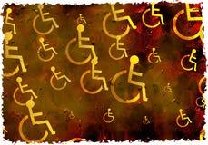De gehandicapten van Grunge royalty-vrije stock foto's
