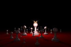 De geheime maatschappij sekte Leider & x28; schaak metaphor& x29; 3D geef illustr terug Stock Foto
