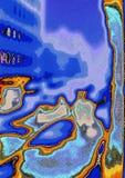 De geheimzinnige surreal samenvatting van de Straatscène vector illustratie