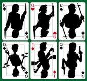 De geheimzinnigheid van de moord kaarten Royalty-vrije Stock Afbeeldingen