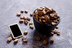 De gehele Bonen van de Koffie Stock Foto's