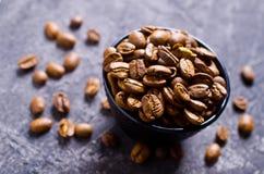De gehele Bonen van de Koffie Royalty-vrije Stock Afbeeldingen