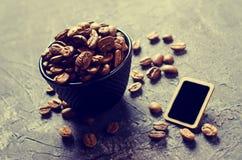 De gehele Bonen van de Koffie Stock Foto