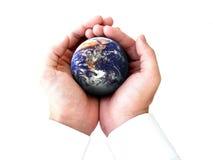 De gehele wereld in mijn handen Royalty-vrije Stock Afbeeldingen
