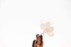 De gehuwde gelukkige impulsen van de paarholding ter beschikking Royalty-vrije Stock Afbeelding