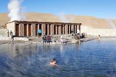 De geisers van Gr Tatio, Chili stock foto's
