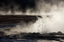 De Geisers van Gr Tatio - Woestijn Atacama - Chili stock fotografie