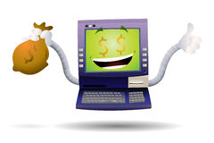 De gekke Machine van ATM Stock Afbeelding