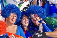 De gekke Verdedigers van het Voetbal van Italië - WC 2010 van FIFA Stock Foto's