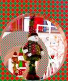 De geklede decoratie van de sneeuwmens voor Kerstmis in Delhi royalty-vrije stock foto