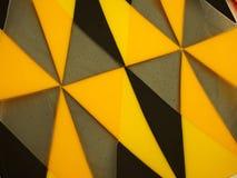 De gekleurde abstracte geel en zwarte achtergrond van de glastextuur Royalty-vrije Stock Afbeelding