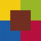 De gekleurde achtergrond van het stoffenpatroon Stock Fotografie