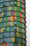 De gekleurde cilindrische bouw in Moskou Royalty-vrije Stock Foto's