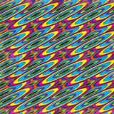 De gekleurde cirkels vatten psychedelische geometrische vectorillustratie samen als achtergrond vector illustratie
