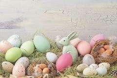 De gekleurde decoratie van Pasen pastelkleur Stock Afbeelding