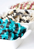 De gekleurde deegwaren van harde tarwesemilina Stock Afbeeldingen