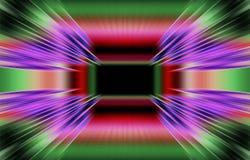 De gekleurde donkere achtergrond van strepen divergeert van het midden aan de randen Uniek ontwerp Royalty-vrije Stock Afbeelding