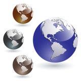 De gekleurde Glanzende Bollen van de Aarde Stock Foto's