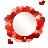 De gekleurde kaart van Valentine cirkel royalty-vrije stock afbeelding